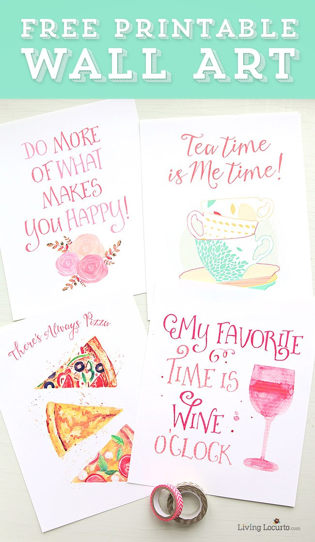 Pretty Free Printable Watercolor Wall Art. LivingLocurto.com