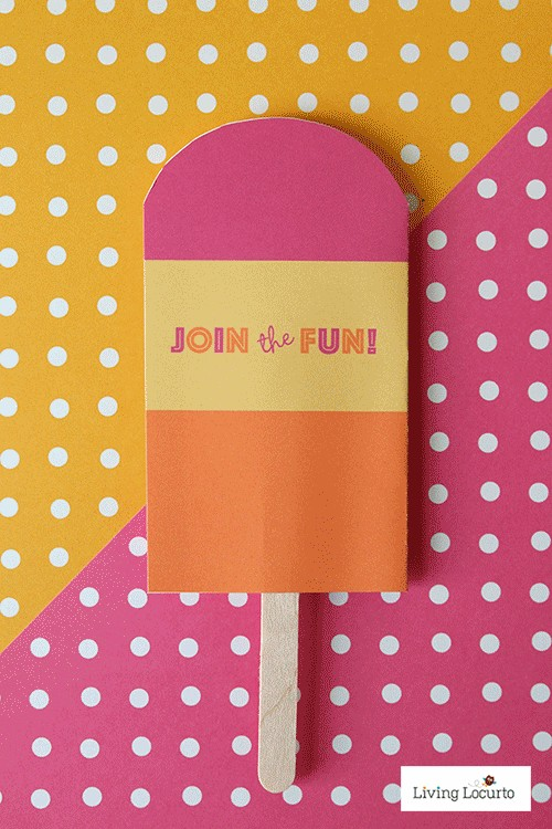 DIY Popsicle Party Ideas. Cute printable invitations via @livinglocurto