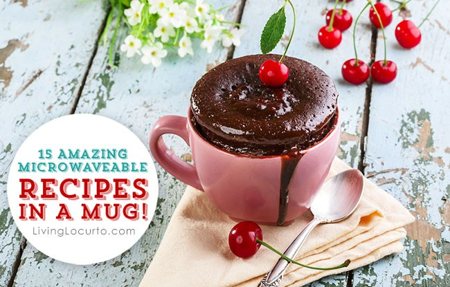 Recipes in a mug are perfect to cook in the microwave to be ready to eat in minutes. All you need is a mug and a microwave! Enjoy these delicious recipes.