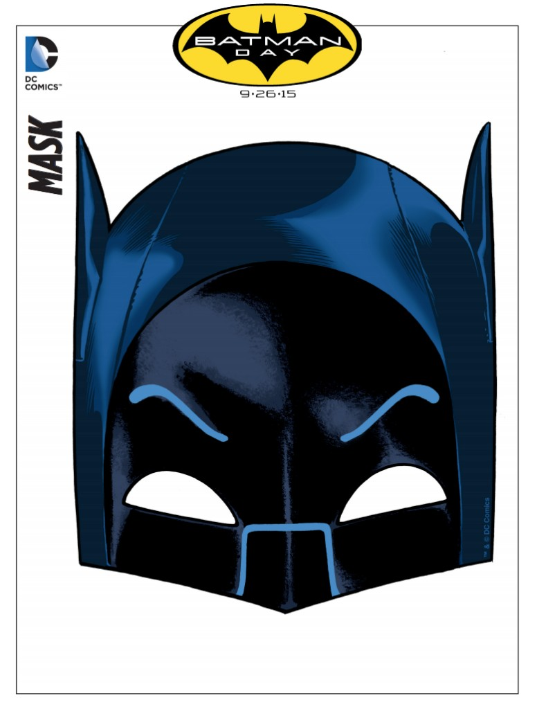 Printable Batman Mask