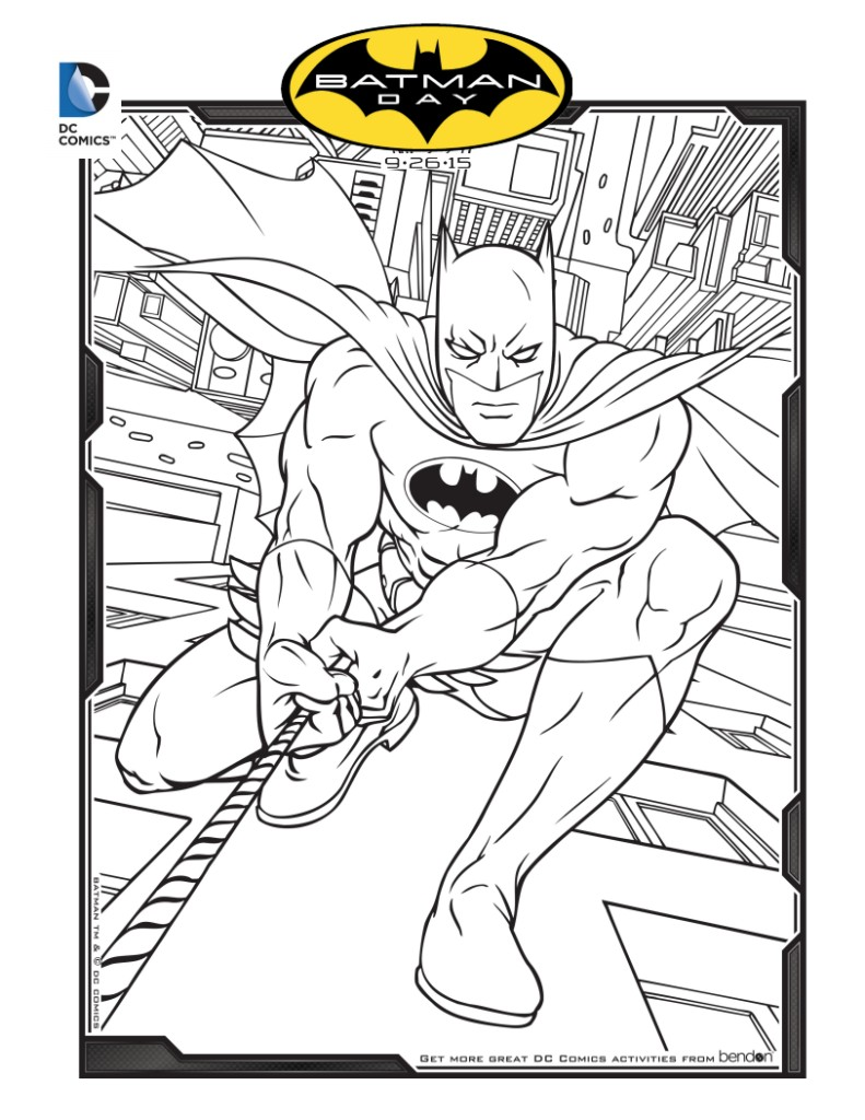 Free Printable Batman Coloring Sheet