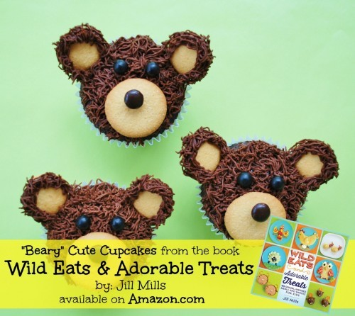 Bear Cupcakes!! Wild Eats and Adorable Treats by Jill Mills is a fun recipe book packed full of easy to make Animal-inspired snacks & meals for kids.