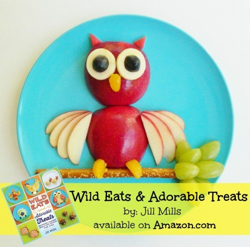 Owl Snack! Wild Eats and Adorable Treats by Jill Mills is a fun recipe book packed full of easy to make Animal-inspired snacks & meals for kids.
