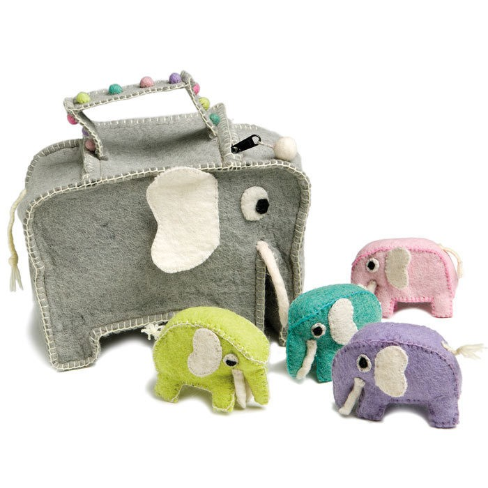 Felted Elephants Made in Denmark