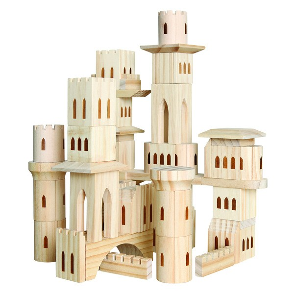Discovery Kids Wooden Castle Block Set