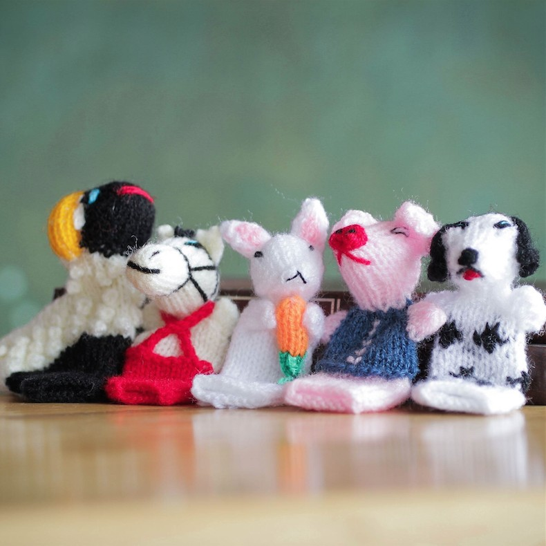 Farm Animal Finger Puppets Handmade in Peru