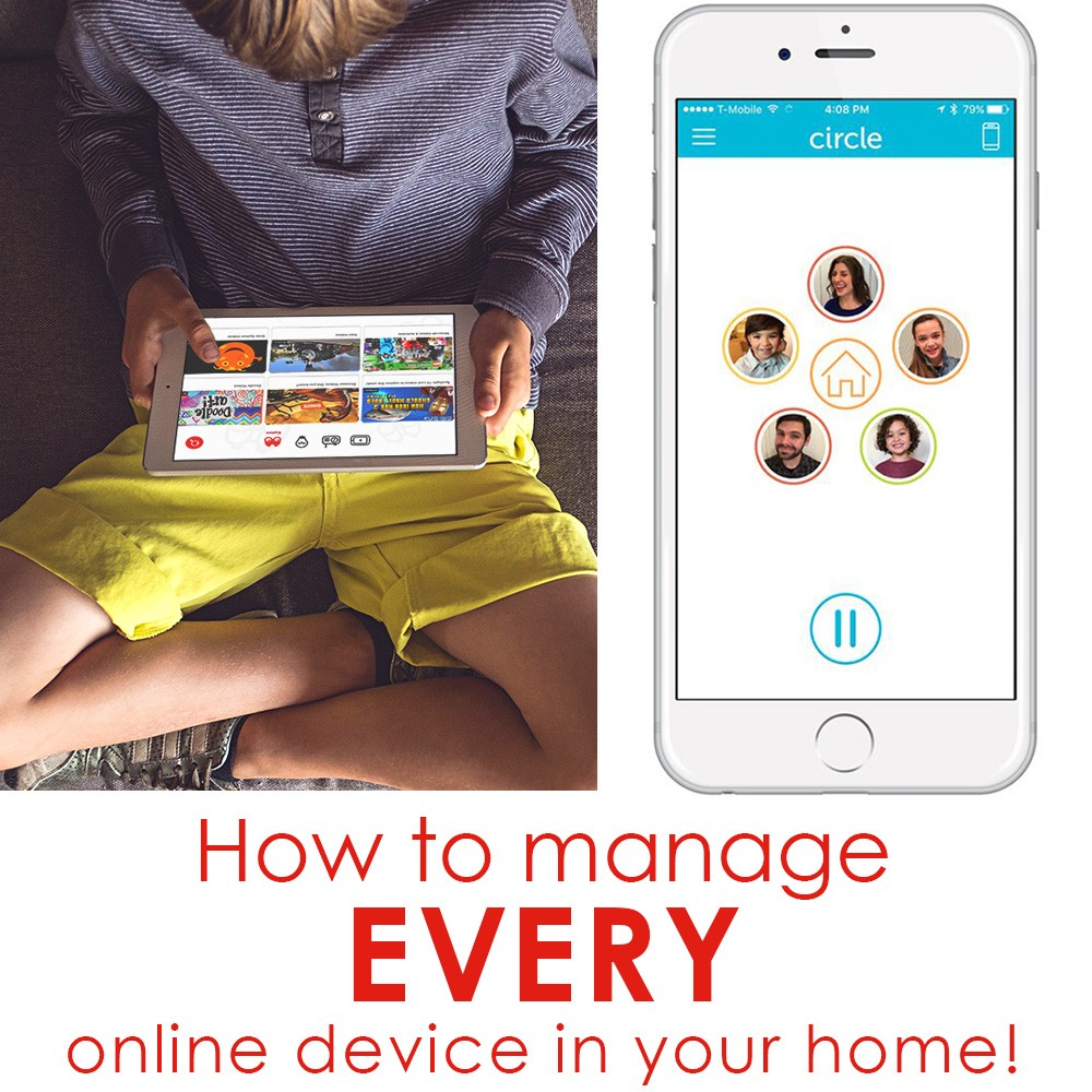 How to manage ALL phones, iPads and other online devices in your home. Circle with Disney is perfect for the technology challenged parent. LOVE This!! A Great Parent Hack.