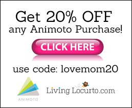 Take 20% OFF Animoto for a keepsake video.