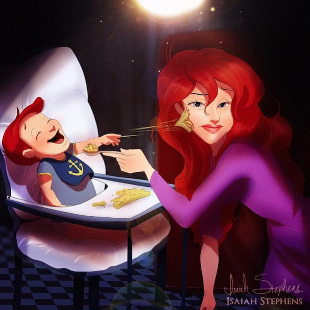 The Little Mermaid as a mother