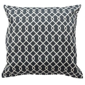 Decorative throw Pillow in black