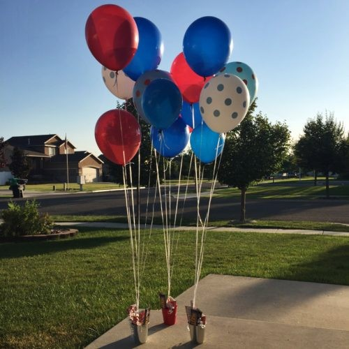 4th of July Balloon Doorbell Surprise