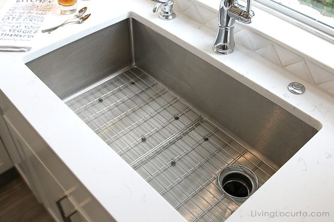 Elkay Crosstown Single Bowl Undermount Kitchen Sink. Before and after white kitchen photos
