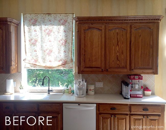 Before and after white kitchen photos with an Elkay stainless steel sink and our favorite Wayfair kitchen products.
