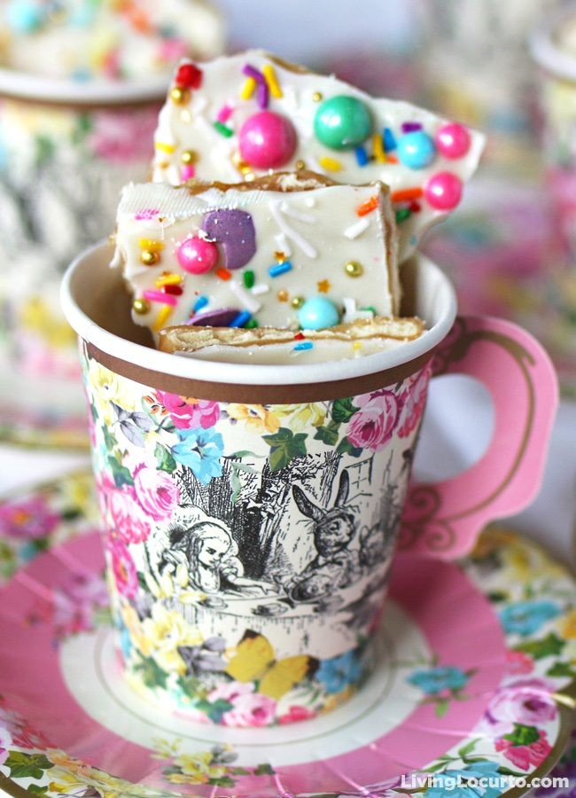Unicorn Crack is a fun White Chocolate Saltine Toffee Recipe.