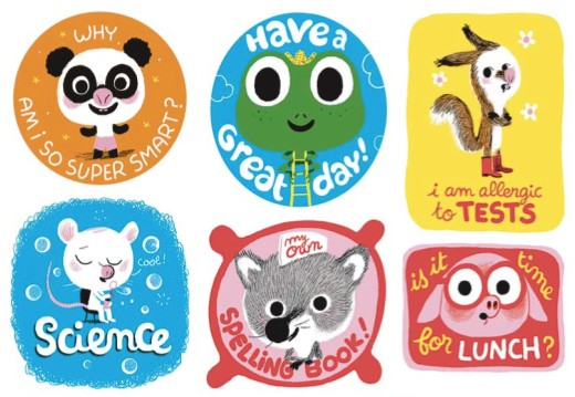 Cute back to school stickers and book plates. Back to School Free Printables