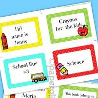 Free School Labels