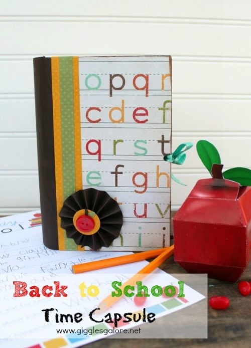 Back to School Time Capsule Craft by Giggles Galore at LivingLocurto.com